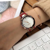 Casual Leather Strap Women's Watch