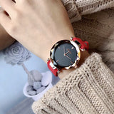 Personality Leather Strap Women's Watch