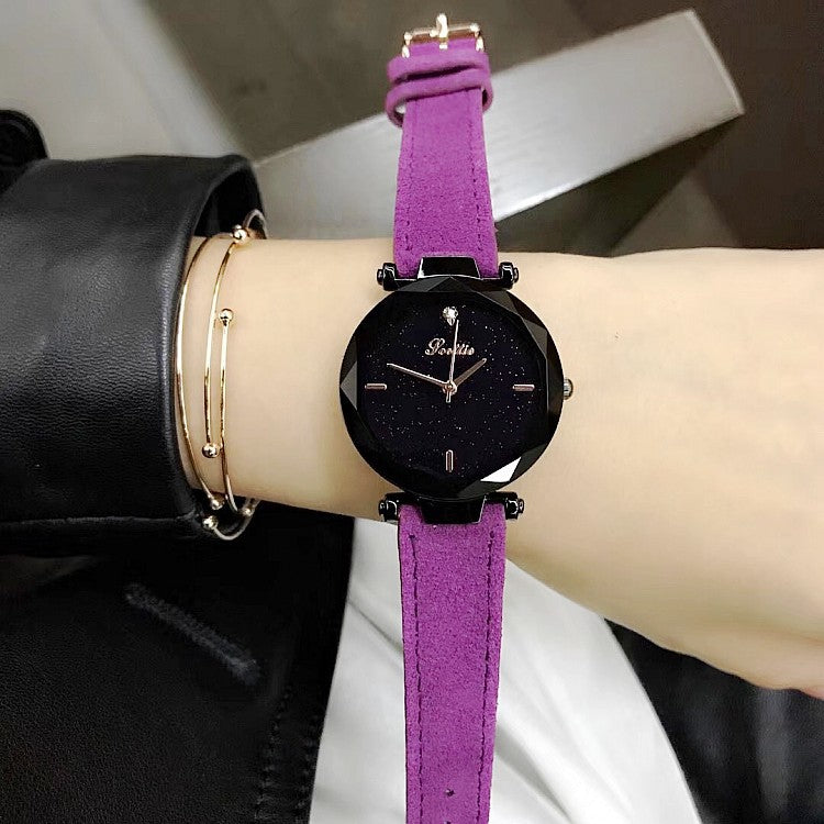 Starry Sky Pattern Luxurious Women's Watch