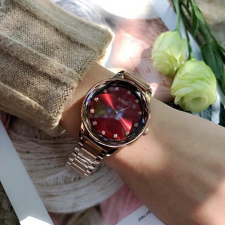 Fashion Rhinestone Stainless Steel Women's Watch