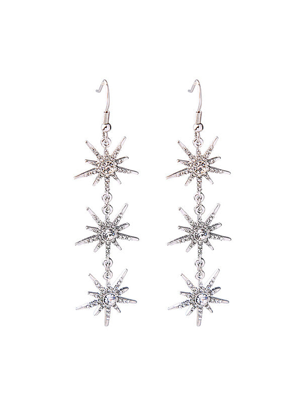 Three Star Pattern Earrings