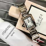 Women's Watch Retro Square Roman Numerals dial stainless steel simple watch