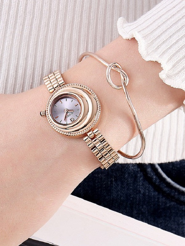 Personality Dial Stainless Steel Strap Women's Watch