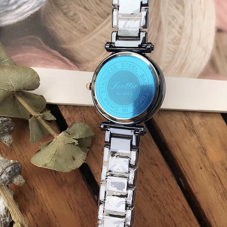 Irregular Mirror Starry Sky Women's Watch