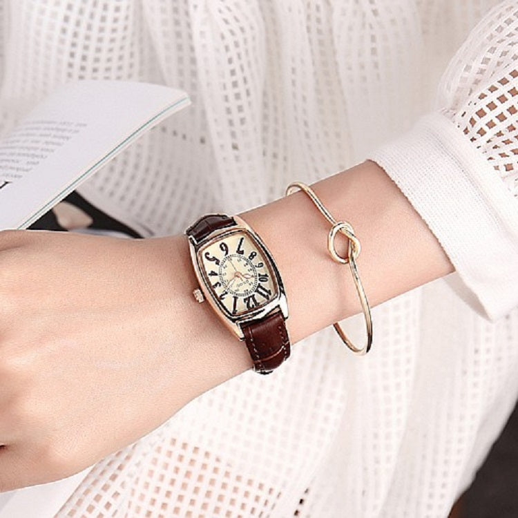 Wine Barrel-shaped Retro Women's Watch