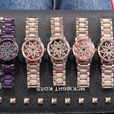 Rotatable Dial Quartz Women's Watch