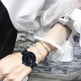 Diamond Scale Mesh Strap Women's Watch