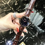 Irregular Mirror Black Dial Women's Watch