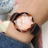 Rhombus-shaped Mirror Women's Watch