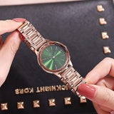 Rhombic Glass Stainless Steel Women's Watch