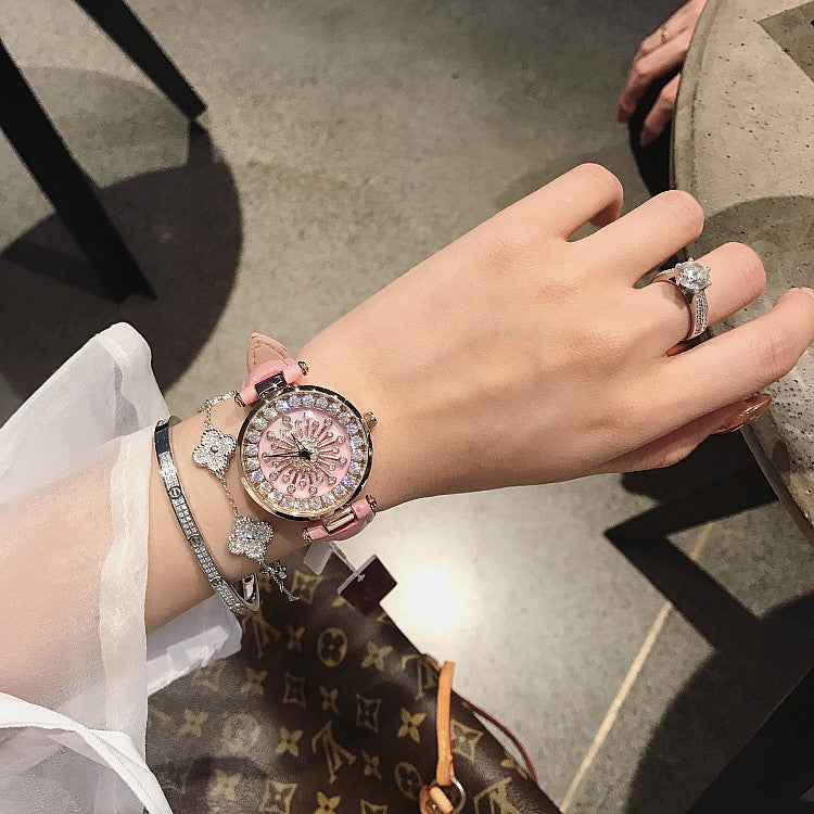 Pink Shell Chassis Women's Watch