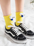 Cartoon big eyes socks