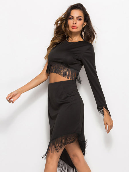 Tassel Irregular Dress
