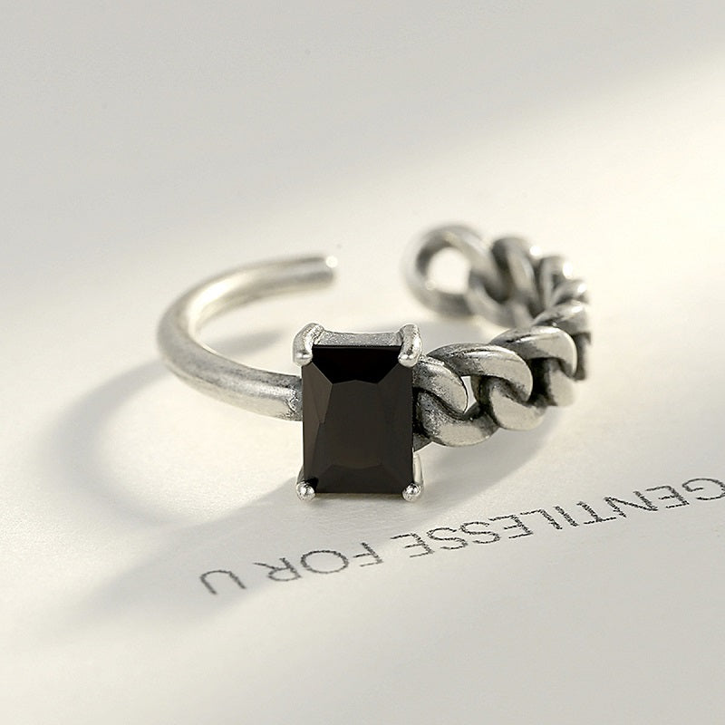 Simple Rectangle Open Ring