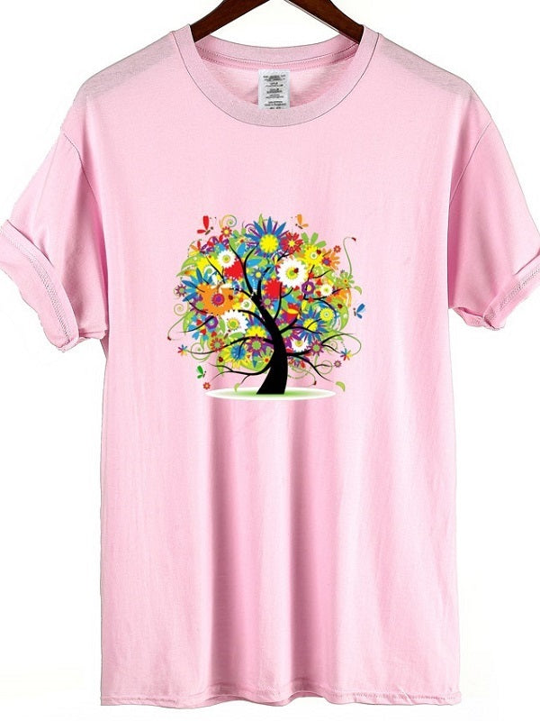 Colorful Flower Tree T-shirt