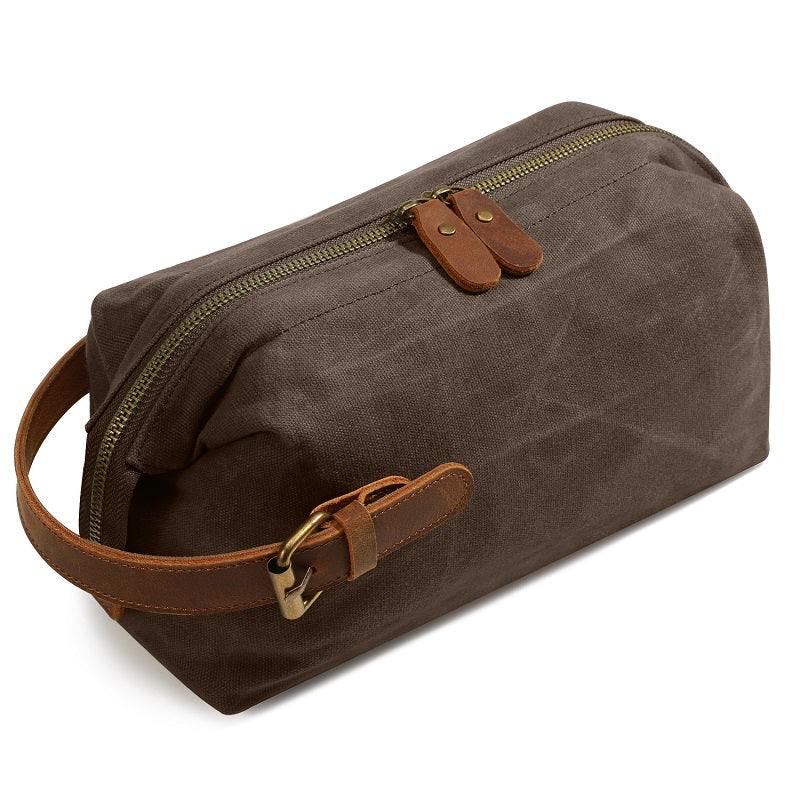 Canvas Wear-resistant Portable Cosmetic Bag