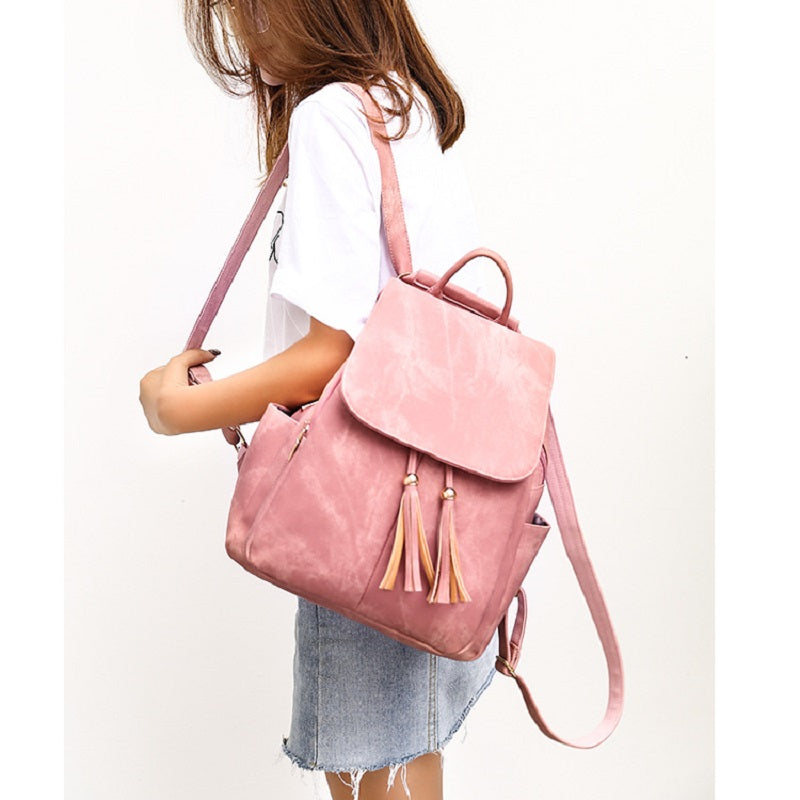 Fashion Tassel PU Leather Backpack
