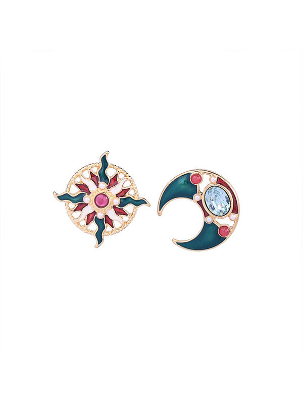 Christmas Elements Stars&Moon Earrings