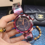 Starry Pattern Dial Bracelet Women's Watch
