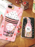 Ice Cream Cola Bottle Pattern Phone Case