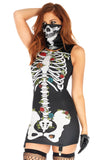 Scary Skeleton Cosplay Halloween Costume