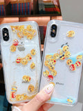 Funny Emoticon Pattern Liquid Flowing Phone Case