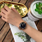 Starry Sky Dial Magnetic Strap Women's Watch