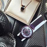 Rotatable Flower Magnetic Strap Women's Watch