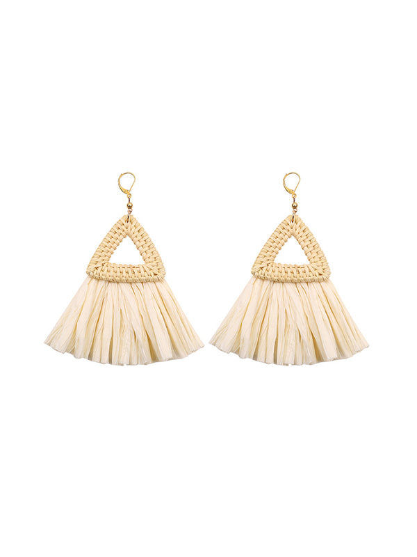 Ethnic Style Triangle Woven Earrings