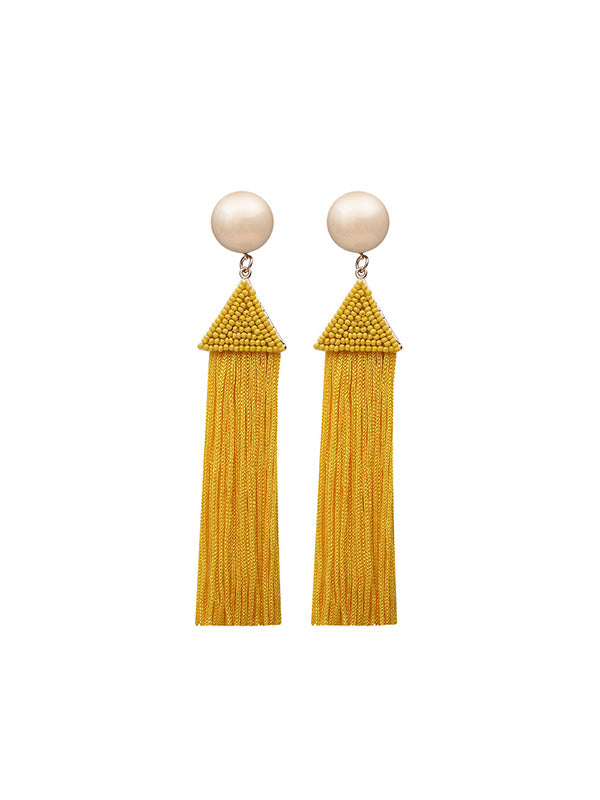 Creative Handmade Long Tassel Earrings