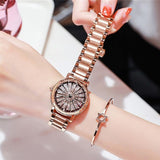 Large Dial Stainless Steel Women's Watch