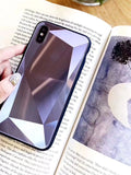 Laser Geometry 3D Diamond Glass Phone Case