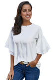 White Hamlet Tiered Sleeve Blouse