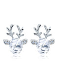 Crystal Gem Antler Earrings