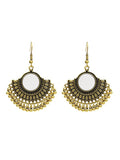 Retro Round Style With Mirror Tassel Earrings