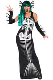 FANCY DRESS Skeleton Siren Costume