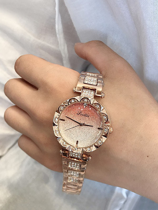 Trendy Diamond Drill Women Chain Watch