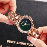Women's Watch Engraving starry large dial stainless steel strap creative watch