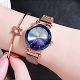 Gradient Dial Mesh Strap Women's Watch