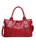 Women's Leather Handbag Solid Color