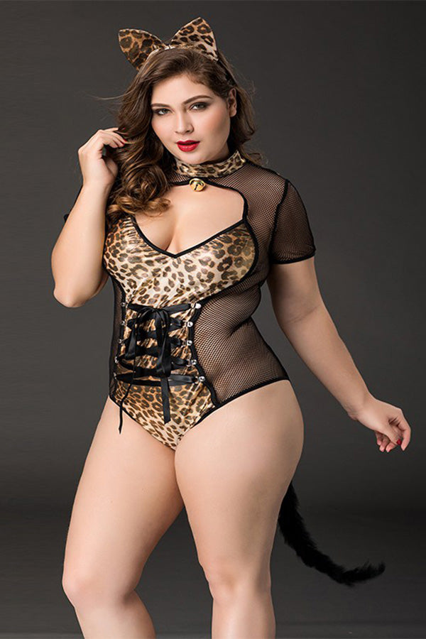 Cat Girl Role-playing Leopard-print Uniform