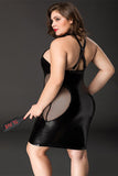 Plus Size Leather Tight Lingerie