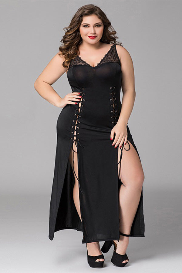 Black Long Dress Lingerie