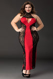 Red Long Dress Pajamas Plus Size