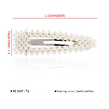 Simple Geometric Pattern Pearl Hair Clip