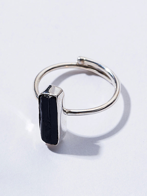 Obsidian Opening Ring