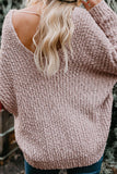 Pink Warm My Soul Knit Off Shoulder Sweater