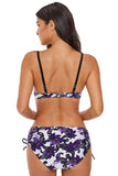 Gorgeous Flowery Print 2pcs Swimsuit