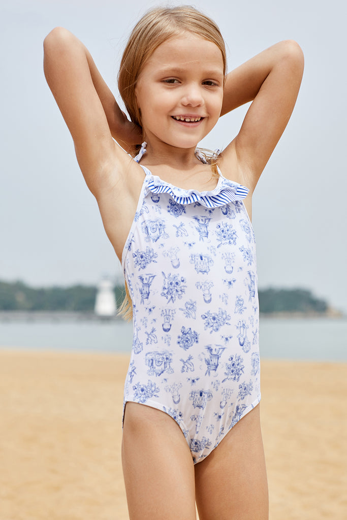 Cute Print Toddler Girls Maillot Swimwear
