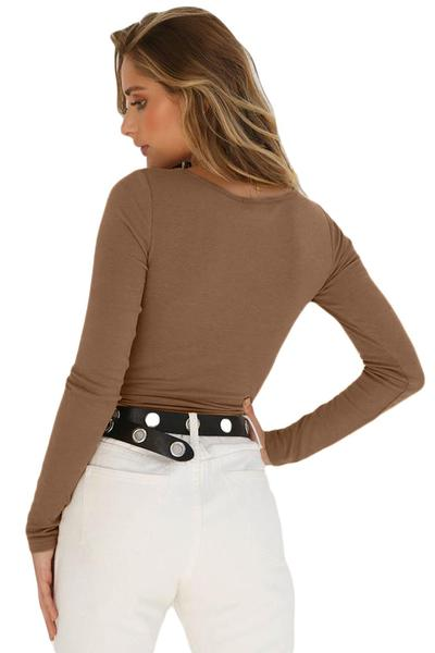 Long Sleeve Button Front Bodysuit